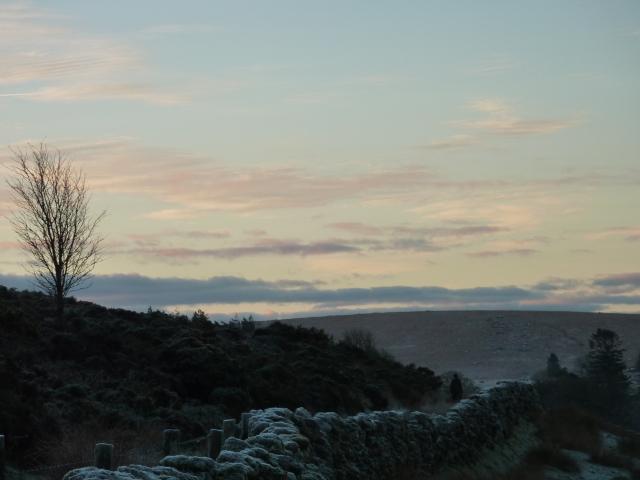 A frosty dawn.